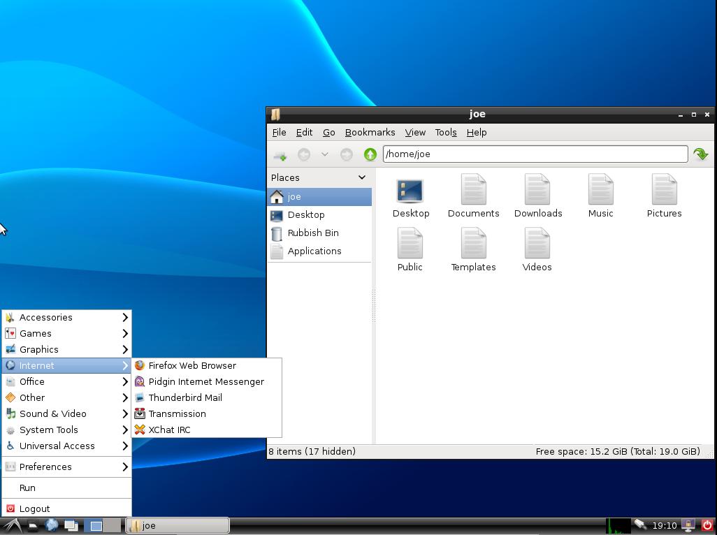 Default LXDE (Ubuntu 13.04)
